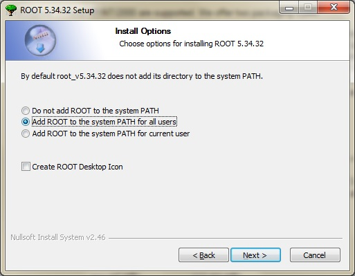 add ROOT to system PATH